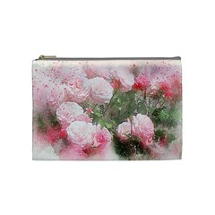 Flowers Roses Art Abstract Nature Cosmetic Bag (medium)  by Nexatart