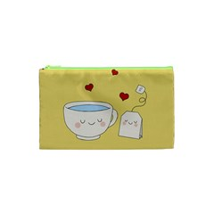 Cute Tea Cosmetic Bag (xs) by Valentinaart