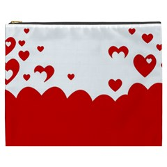Heart Shape Background Love Cosmetic Bag (xxxl)