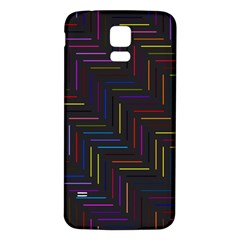 Lines Line Background Samsung Galaxy S5 Back Case (white) by Nexatart