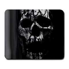 Black And Grey Nightmare Large Mousepads by vwdigitalpainting