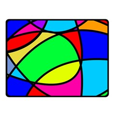 Abstract Curves Fleece Blanket (small) by vwdigitalpainting