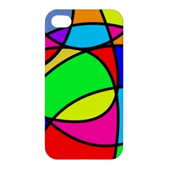 Abstract Curves Apple Iphone 4/4s Premium Hardshell Case by vwdigitalpainting