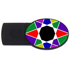Compass Abstract Usb Flash Drive Oval (4 Gb) by vwdigitalpainting