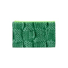 Knitted Wool Square Green Cosmetic Bag (xs) by snowwhitegirl
