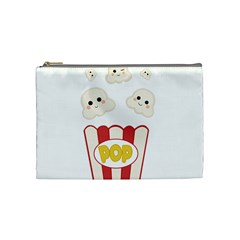 Cute Kawaii Popcorn Cosmetic Bag (medium)  by Valentinaart