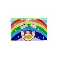 Cute Kawaii Popcorn Cosmetic Bag (xs) by Valentinaart