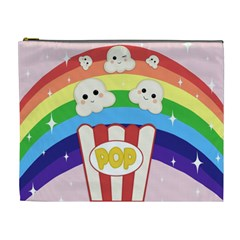 Cute Kawaii Popcorn Cosmetic Bag (xl) by Valentinaart