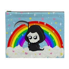 Cute Grim Reaper Cosmetic Bag (xl) by Valentinaart