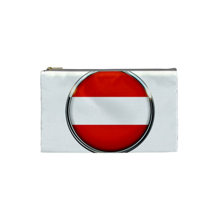 Austria Country Nation Flag Cosmetic Bag (Small)