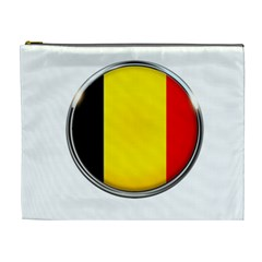 Belgium Flag Country Brussels Cosmetic Bag (xl) by Nexatart