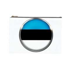 Estonia Country Flag Countries Cosmetic Bag (large)  by Nexatart