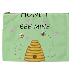 Bee Mine Valentines Day Cosmetic Bag (xxl)  by Valentinaart