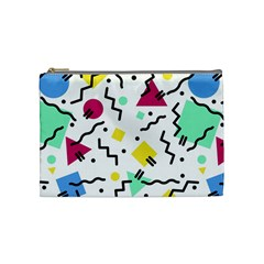 Art Background Abstract Unique Cosmetic Bag (medium)