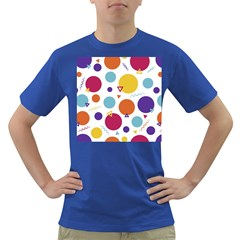 Background Polka Dot Dark T Shirt