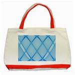 Background Light Glow Blue Classic Tote Bag (Red) Front