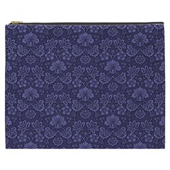 Damask Purple Cosmetic Bag (xxxl)  by snowwhitegirl