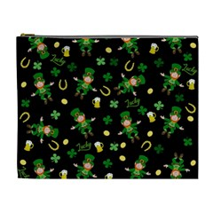 St Patricks Day Pattern Cosmetic Bag (xl) by Valentinaart