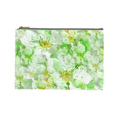 Light Floral Collage  Cosmetic Bag (large)  by dflcprints