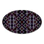 Futuristic Geometric Pattern Oval Magnet