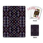 Futuristic Geometric Pattern Playing Card
