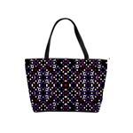 Futuristic Geometric Pattern Shoulder Handbags