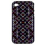 Futuristic Geometric Pattern Apple iPhone 4/4S Hardshell Case (PC+Silicone)