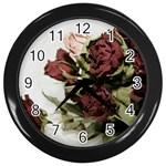 Roses 1802790 960 720 Wall Clocks (Black)