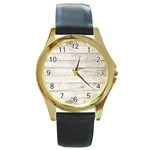 On Wood 2188537 1920 Round Gold Metal Watch