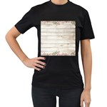 On Wood 2188537 1920 Women s T-Shirt (Black) (Two Sided)