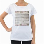 On Wood 2188537 1920 Women s Loose-Fit T-Shirt (White)
