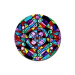 Sacred Geometry Grid - Drink Coasters 4 Pack (Round)