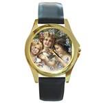 Vintage 1501558 1280 Round Gold Metal Watch