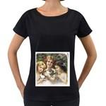 Vintage 1501558 1280 Women s Loose-Fit T-Shirt (Black)
