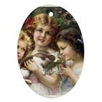 Vintage 1501558 1280 Oval Ornament (Two Sides)