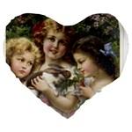 Vintage 1501558 1280 Large 19  Premium Flano Heart Shape Cushions