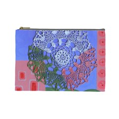 Pink Houses Cosmetic Bag (large)  by snowwhitegirl