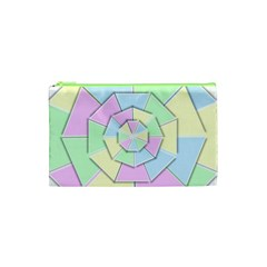 Color Wheel 3d Pastels Pale Pink Cosmetic Bag (xs) by Nexatart