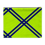 Stripes Angular Diagonal Lime Green Cosmetic Bag (XL) Back