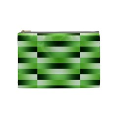 Pinstripes Green Shapes Shades Cosmetic Bag (medium)