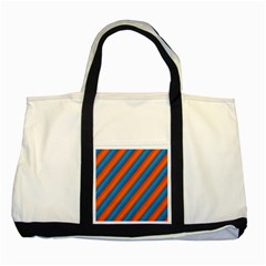 Diagonal Stripes Striped Lines Two Tone Tote Bag