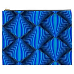 Abstract Waves Motion Psychedelic Cosmetic Bag (xxxl)
