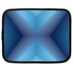 Converging Lines Blue Shades Glow Netbook Case (xl)