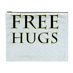 Freehugs Cosmetic Bag (xl) by cypryanus