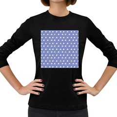 xmas0050 Women s Long Sleeve Dark T Front