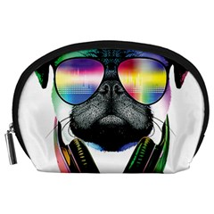 Dj Pug Cool Dog Accessory Pouches (large)  by alexamerch