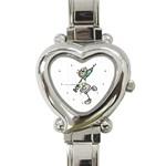 nurse stick Heart Italian Charm Watch