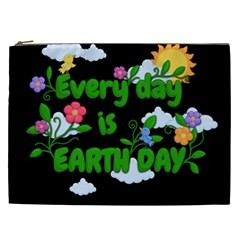 Earth Day Cosmetic Bag (xxl)  by Valentinaart