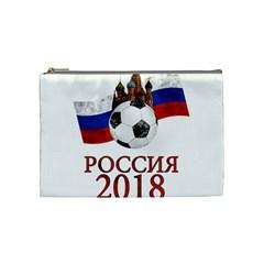 Russia Football World Cup Cosmetic Bag (medium)  by Valentinaart