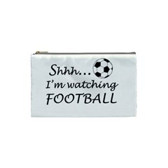 Football Fan  Cosmetic Bag (small)  by Valentinaart